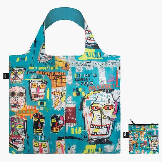 LOQI Jean-Michel Basquiat  Skull Tote Reusable shopping Bag