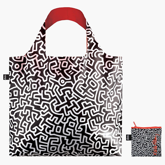LOQI Museum Keith Haring Untitled Canvas & Beach Tote Bag, 50 cm, 20 L, Multicol