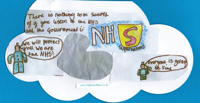 Alfie dreamt up this two part reassuring wish note. The first one includes NHS Lego people.....