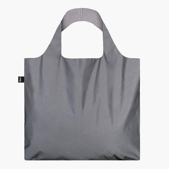 LOQI Artist Canvas & Beach Tote Bag, 50 cm, 20 L, Reflective Silver