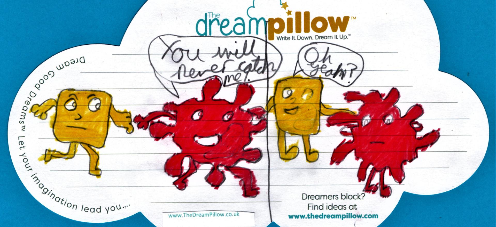 Rachel desde Devon nos ha mandado este dibujo de su sueño dividido en dos.