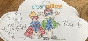 La mamá de Ted y Rhu nos ha mandado este sueño en los que aparecen pintados como superhéroes.