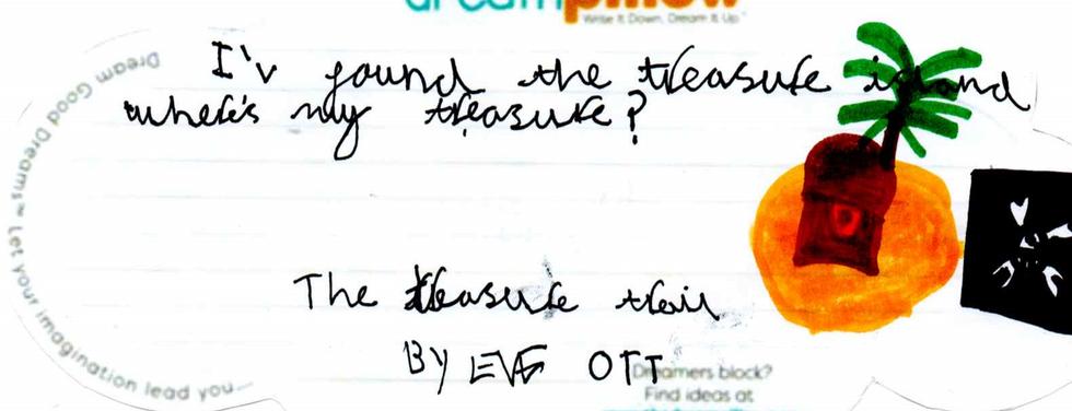 Eve da Halifax vorrebbe sognare di trovare un tesoro su un'isola deserta.