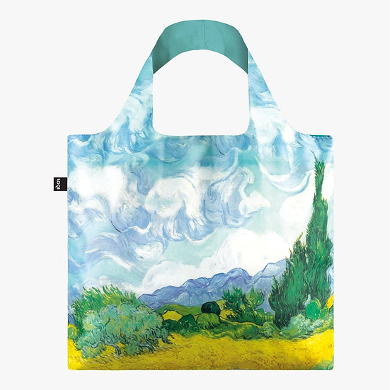 LOQI Museum Vincent Van Gogh A Wheat Field with Cypresses Bag Canvas & Beach Tot