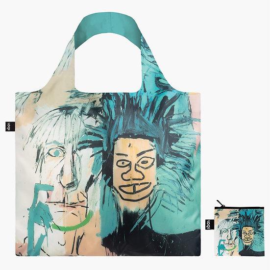LOQI JEAN MICHEL BASQUIAT Warhol Bag Travel Tote Blue