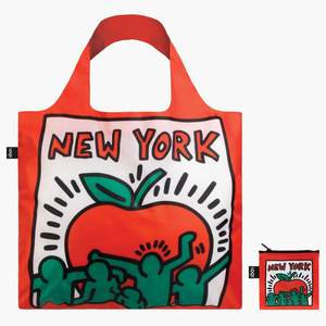 LOQI Keith Haring New York Bag Travel Tote Red