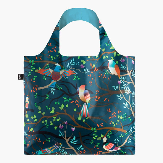 LOQI Hvass and Hannibal Birds Canvas shopping Tote Bag 50 cm 20kg Multi
