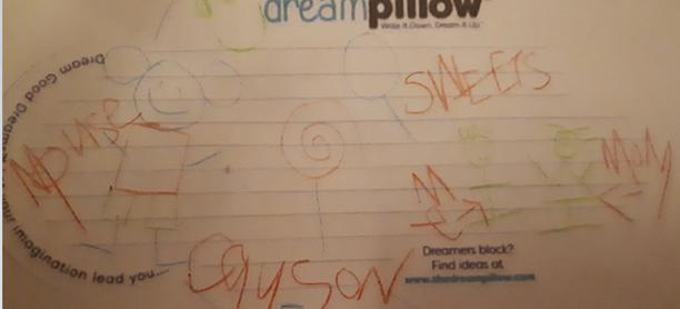 Cayson (5 ans et habitant à Dublin) a fait le rêve que sa famille était en vacances dans leur endroit favori , Disney Land, et que Mickey leur  rendait visite avec des bonbons.