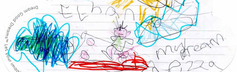 Ethan di Wakefield, 6 anni, ha sognato di viaggiare per il mondo su una pizza volante.