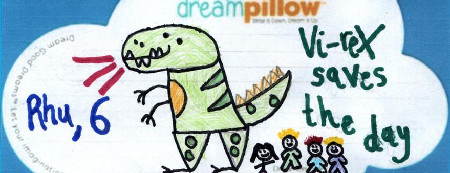 Rhu (6 años) nos ha mandado este sueño desde Plymouth