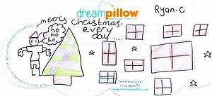 Ryan de Birmingham soñaba que era navidad todos los días cuando nos mandó este dibujo en Diciembre.