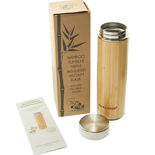 Bamboo Tumbler - 530ml / 18 fl oz Vacuum Flask