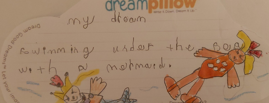 Diana de Tunbridge nos ha mandado este dibujo de su sueño de ser una sirena.