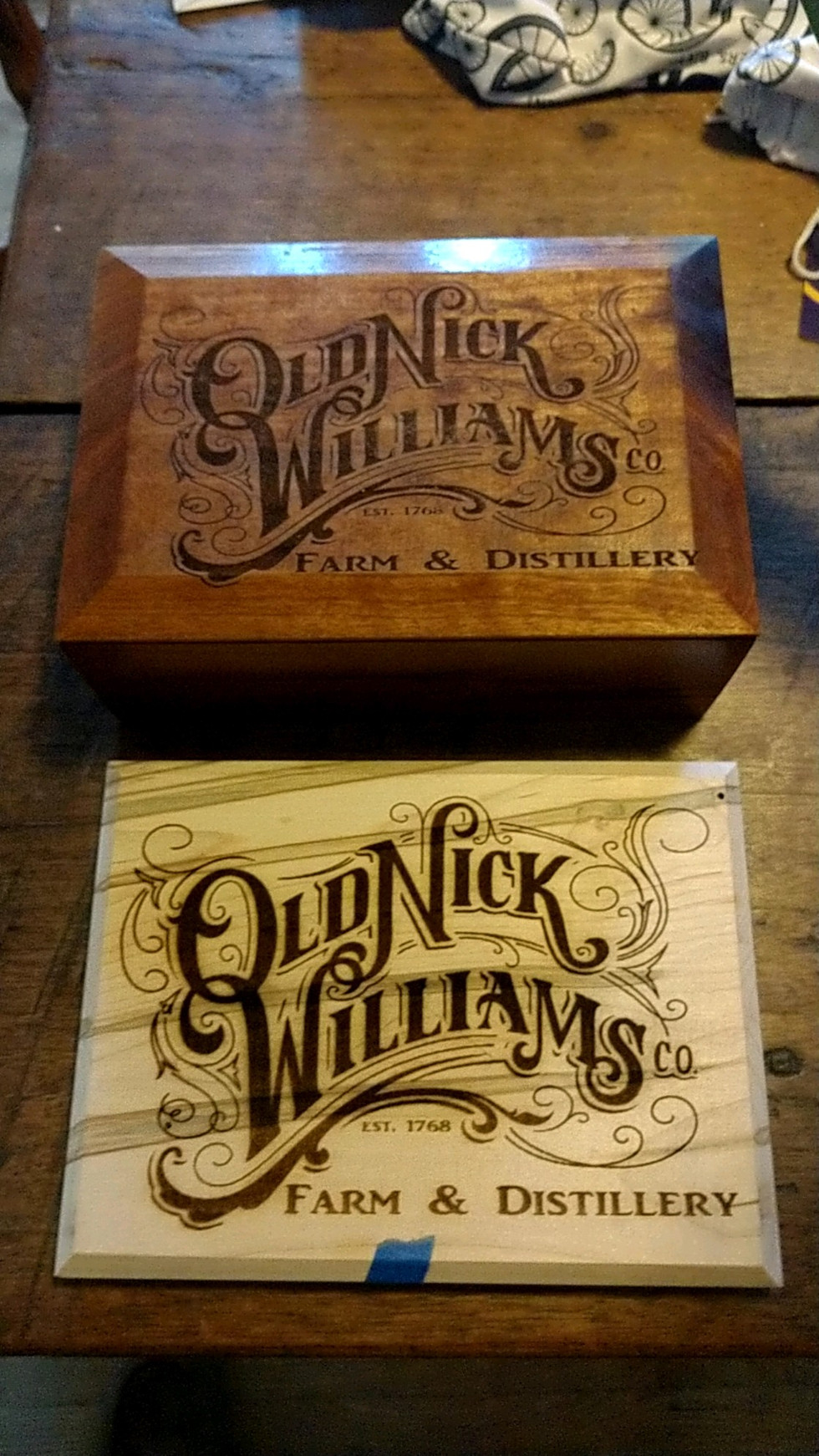 Old Nick Williams Boxes
