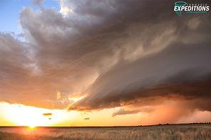 Littlefield Texas Sunset Supercell 2 WW