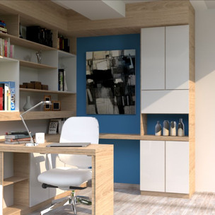Estudio y escritorio apartamento