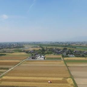 筑後川流域には穀倉地帯が広がります