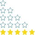 100% 5-star client reviews