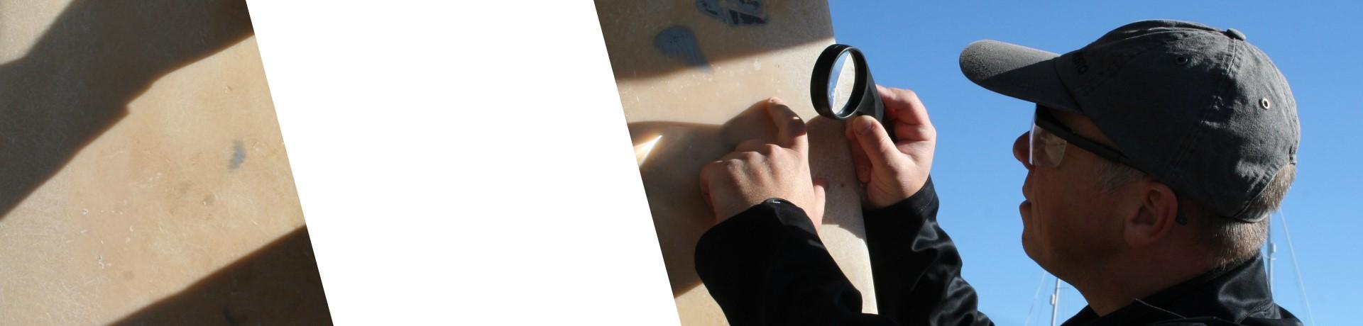 Inspecting a Rudder split