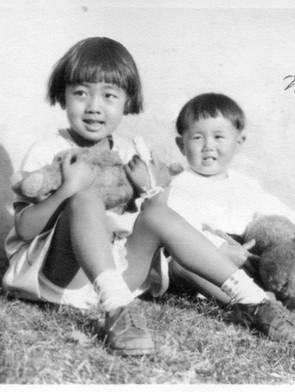 4歳の明子さん(1931年1月29日 ロサンゼルス)
