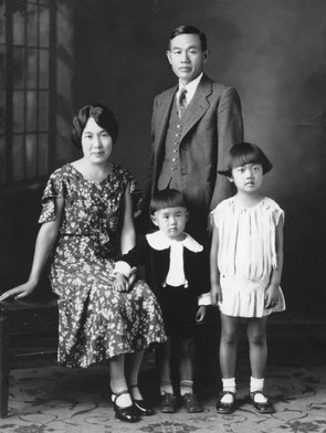 明子さんの家族写真(1931年6月14日 ロサンゼルス)
