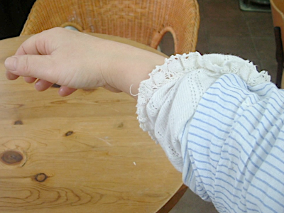 くしゅしゅの袖口