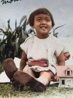 3歳の明子さん(1929年12月25日 ロサンゼルス)
