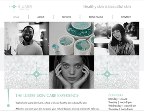 Lustre skin care website design.png