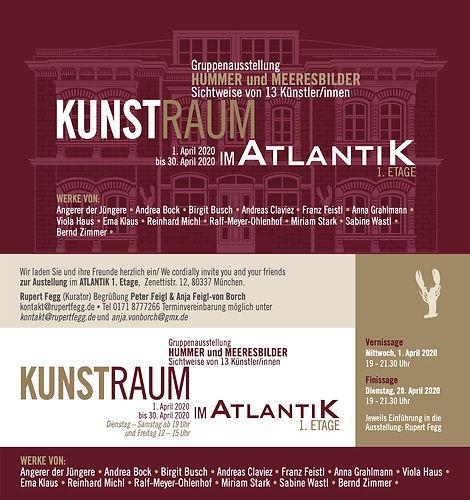 Mailing Kunstraum Ausstellung Hummer und
