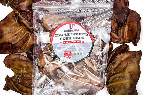 Maple Smoked Pork Ears - (3, 6, 12, 24 & 100 Count)