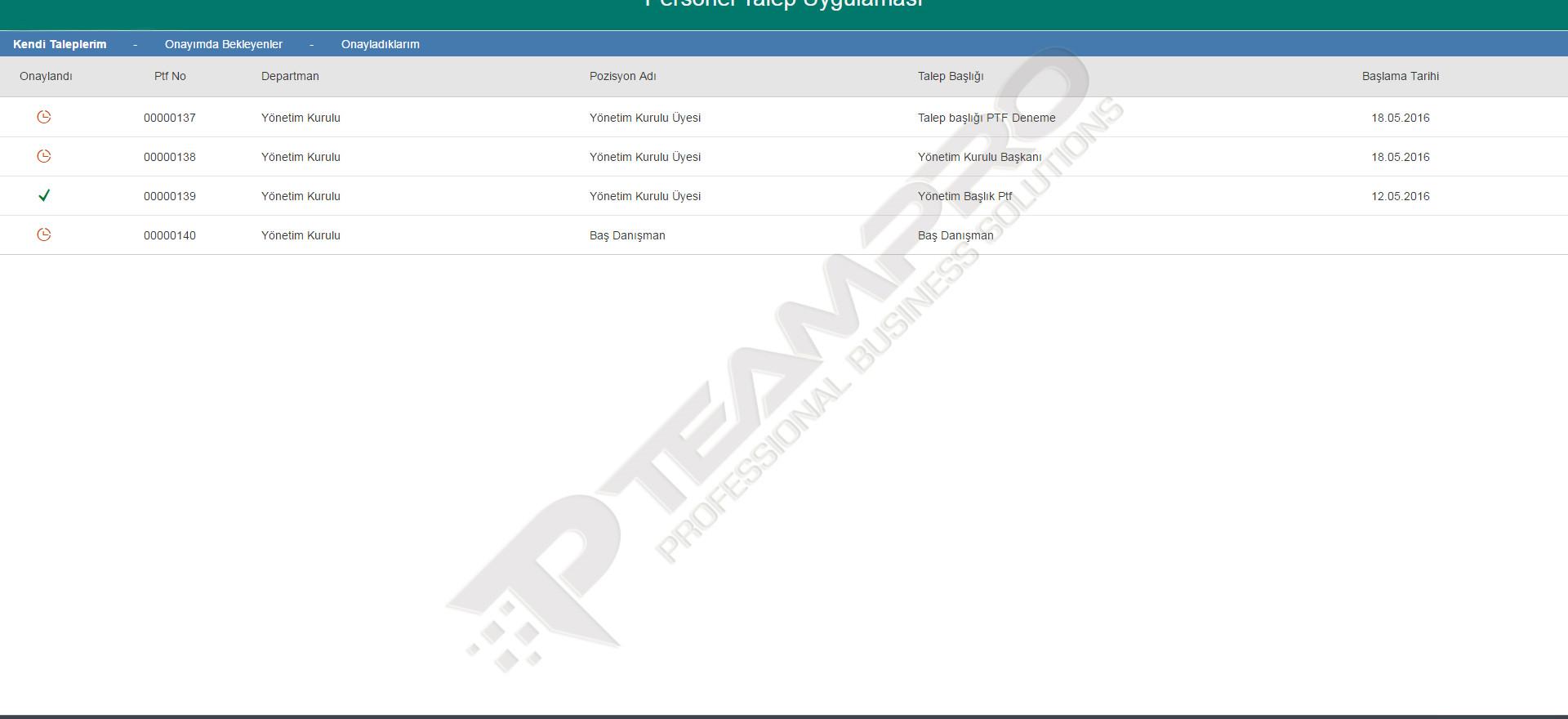 SAP Fiori | Personel Talep