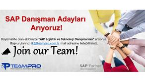 SAP Danışmanları Arıyoruz.