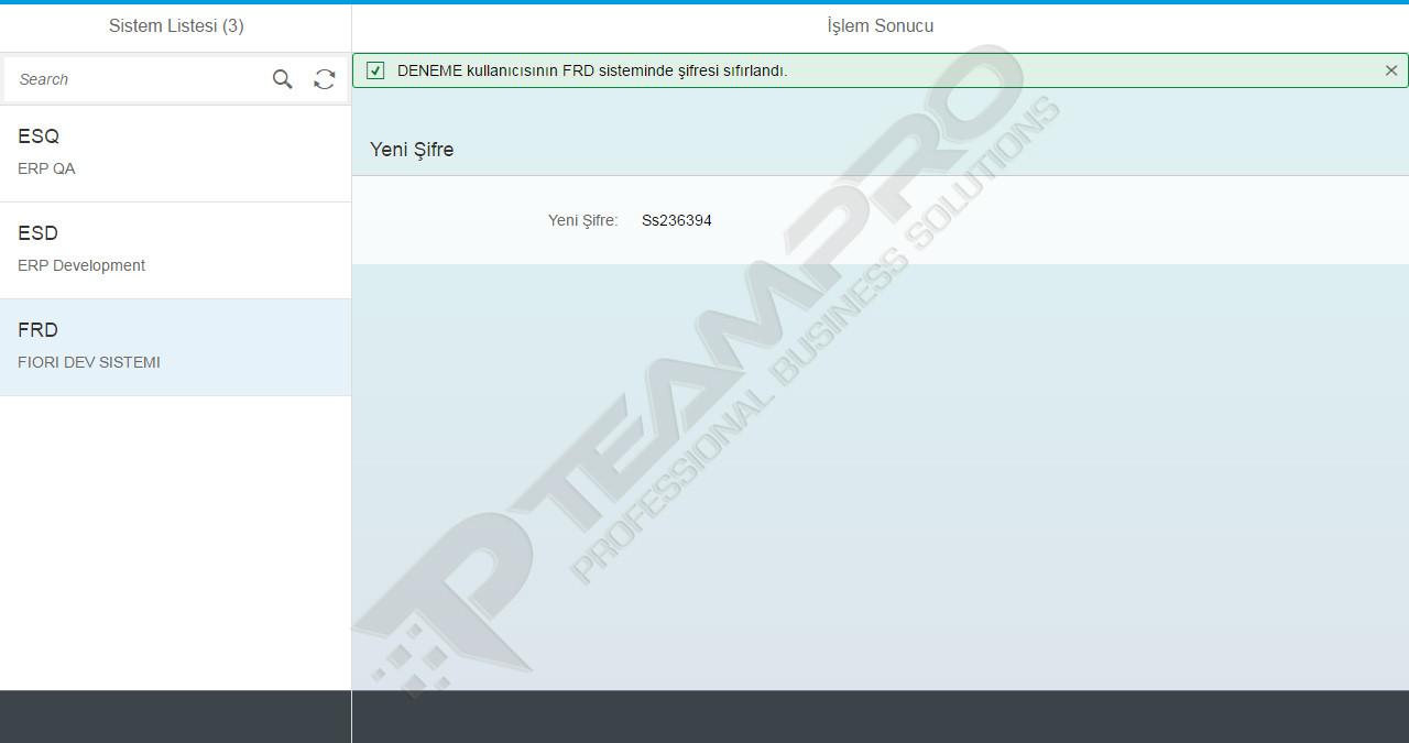 SAP Fiori | Şifre Yönetimi