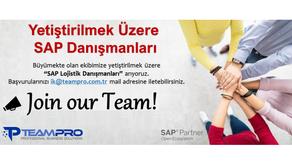 Büyümekte olan ekibimize yetiştirilmek üzere''SAP Lojistik Danışmanları'' arıyoruz.
