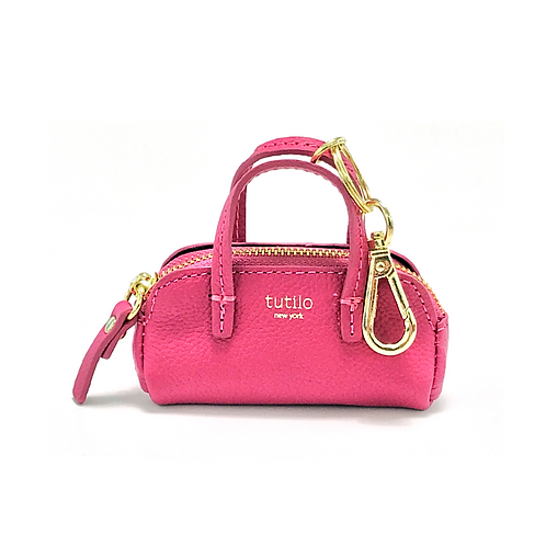 """Pink Tutilo """"Power the Day"""" Mini Satchel Charm Charger"""