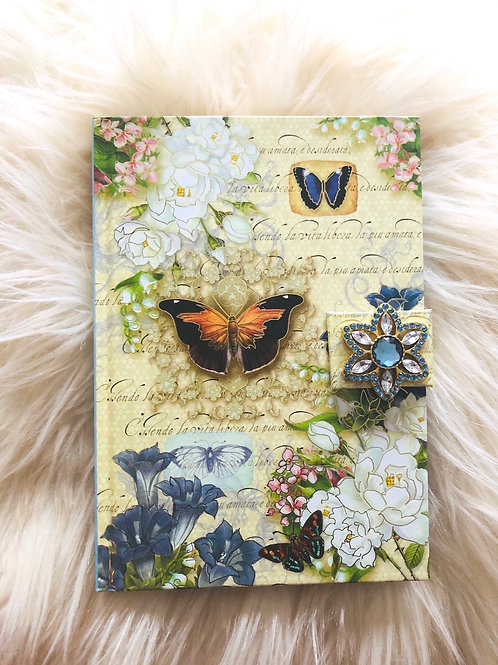 Punch Studio Journal Bluestar Splendor Diary Azure Brooch