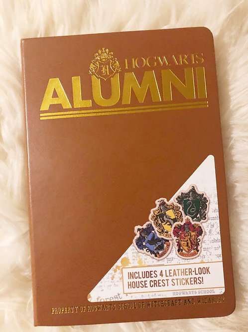HARRY POTTER HOGWARTS ALUMNI HARDCOVER JOURNAL