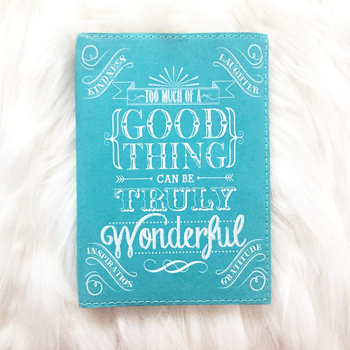 Teal Faux Leather Journal