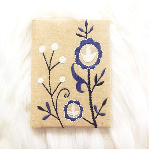 Embroidered Linen Journal