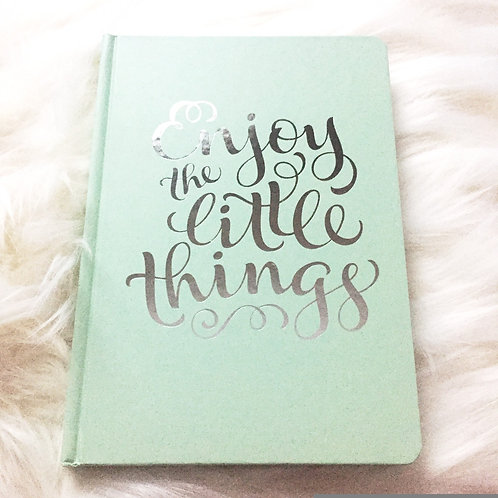 Hard Cover Journal with Silver Lettering