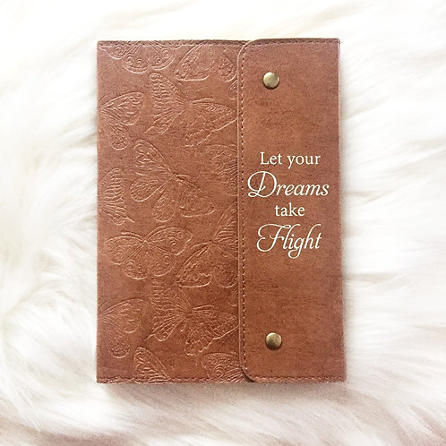 Brown Faux Leather Journal with Snaps