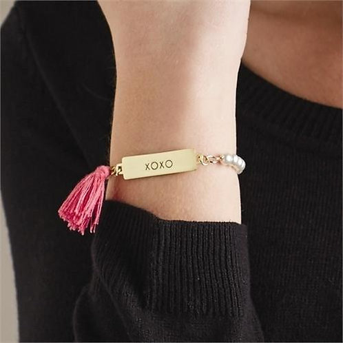 Reversible Bar Bracelet - Love