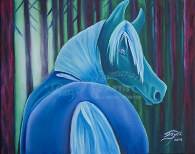 Blue jade horse.