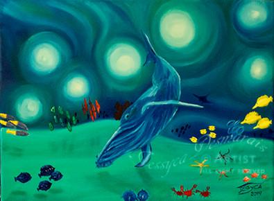Hump back whale ballet