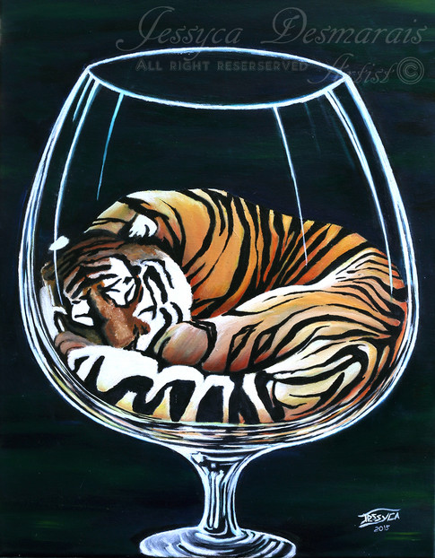 Tiger in a glass
