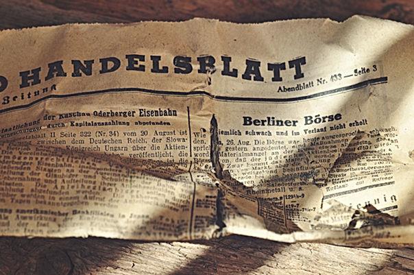 Viejo diario alemán