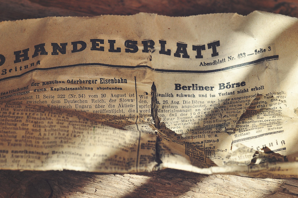 Old German Newspaper