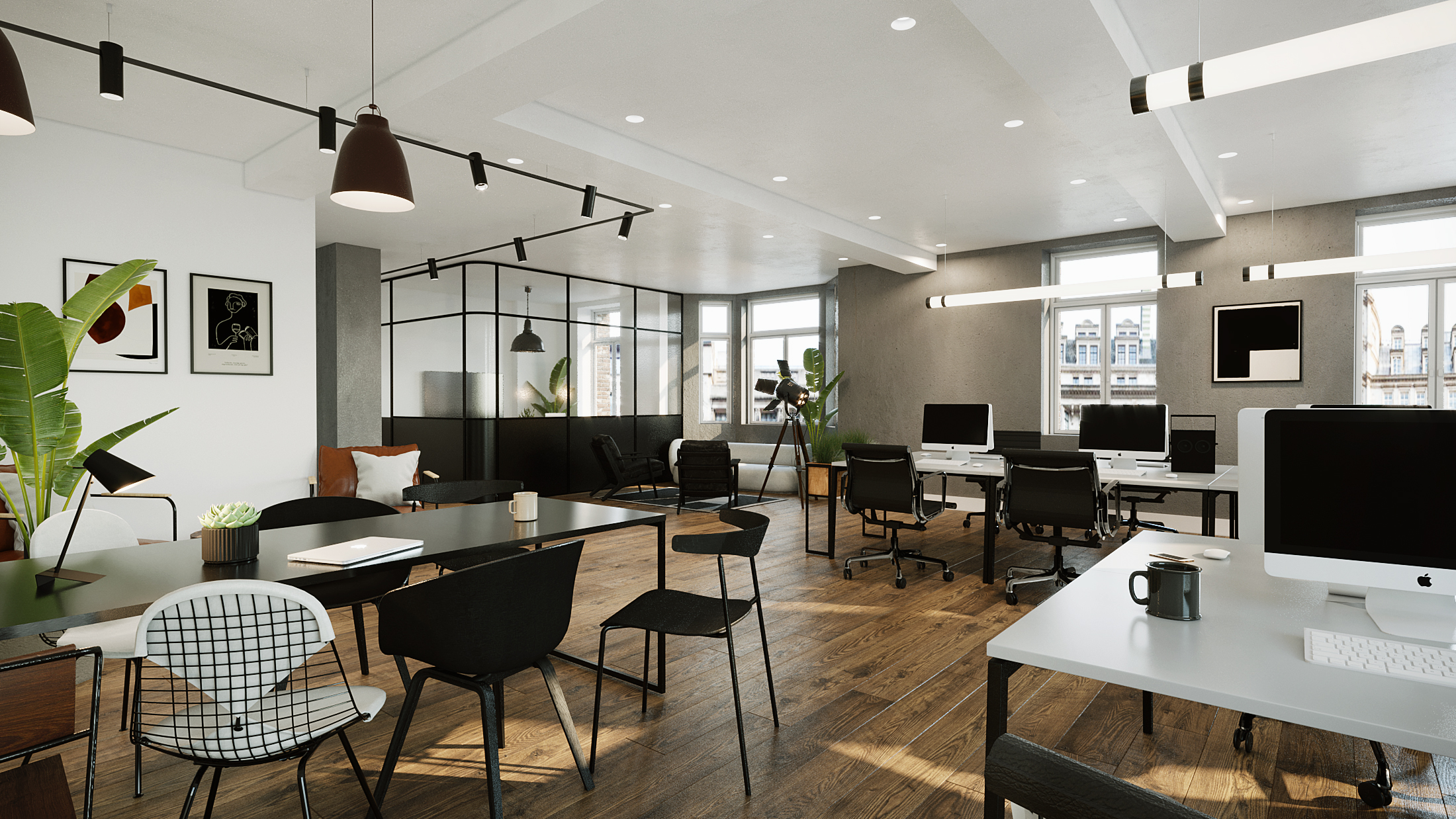 Islington workplace 3d CGI project. Designed by The Whitepaper
