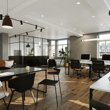 """ The Islington "" 3d workplace CGI visualization"