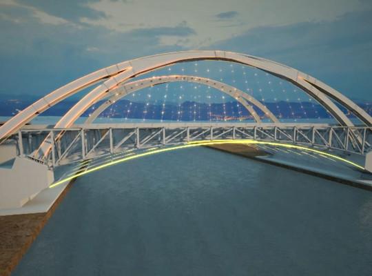 3d Bridge construction process